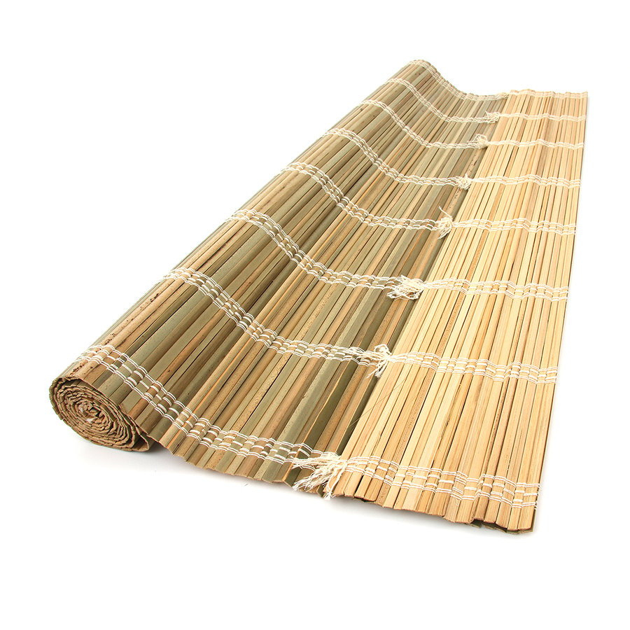 """Palmová rohož """"štípané palmové dřevo"""" na zeď - délka 200 cm a výška 80 cm"""