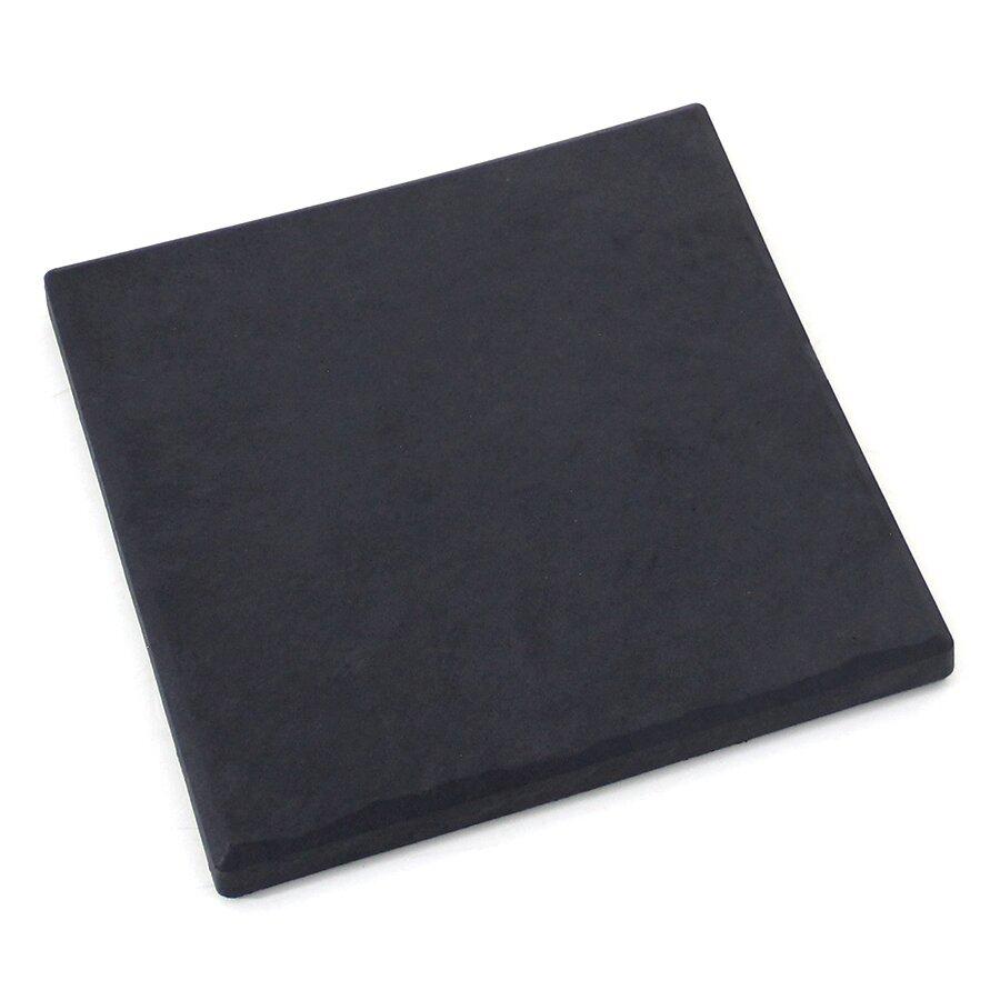 Grafitová gumová terasová dlažba FLOMA Stone - délka 30 cm, šířka 30 cm a výška 2,8 cm
