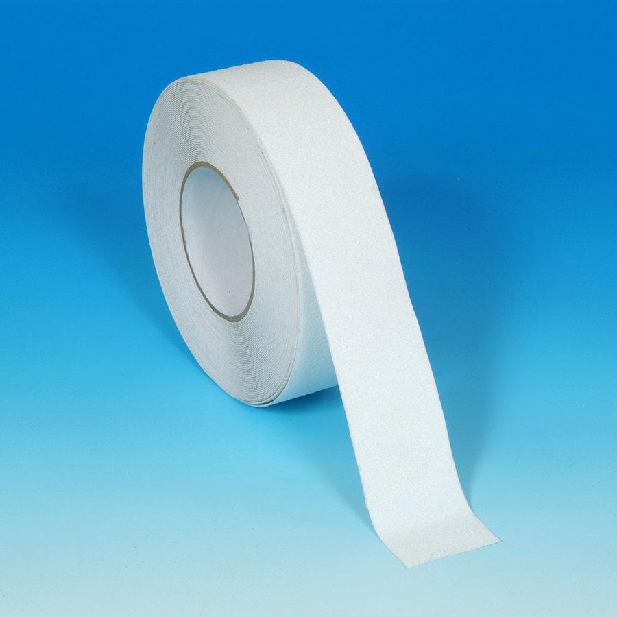 Bílá vinylová protiskluzová samolepící podlahová páska - délka 18 m a šířka 5 cm