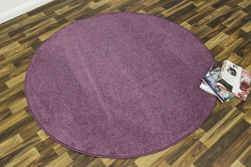 Fialový kusový kulatý koberec Nasty - průměr 200 cm