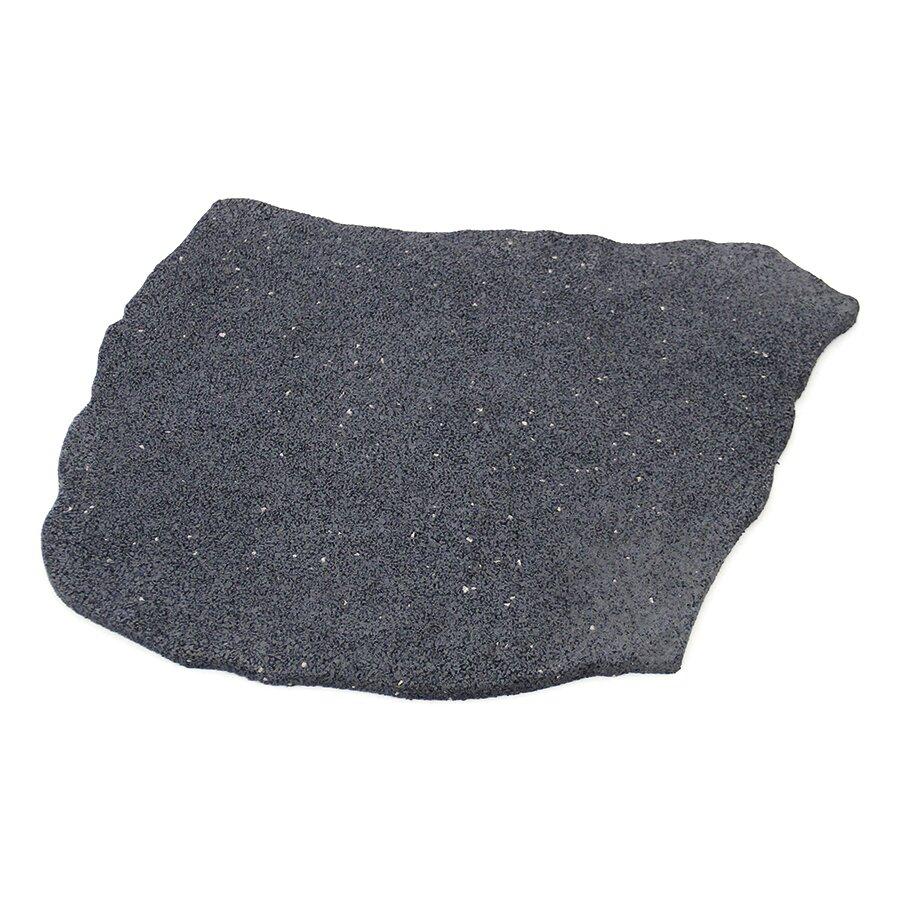Šedý gumový zahradní nášlap (šlapák) FLOMA Natural Stone - délka 53 cm, šířka 45 cm a výška 1,5 cm