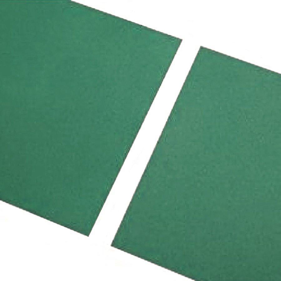 Zelená gumová hladká dlaždice FLOMA - délka 100 cm, šířka 100 cm a výška 0,7 cm