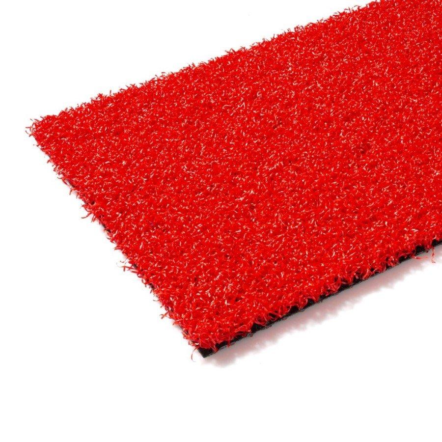 Červený umělý trávník (metráž) FLOMA Red Colourfull Grass - délka 1 cm a výška 1,4 cm