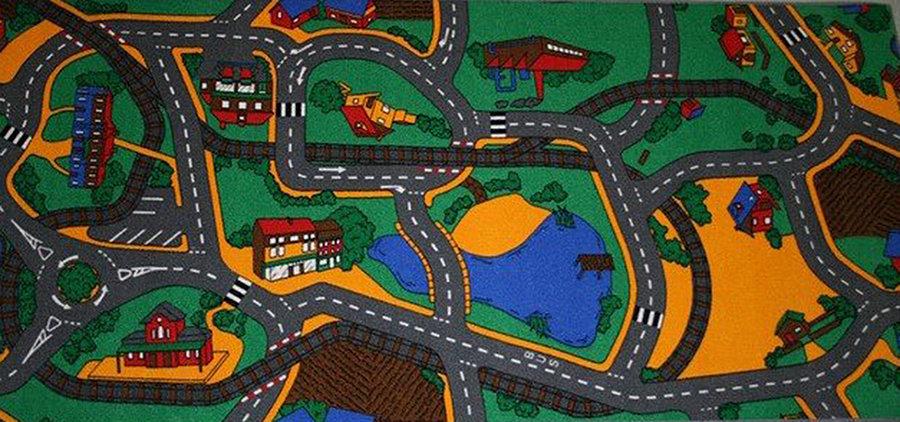 Různobarevný dětský kusový hrací koberec Play - délka 165 cm a šířka 100 cm