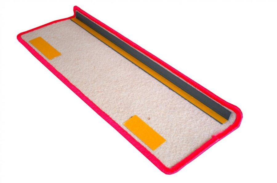 Růžový kobercový nášlap na schody Eton - délka 20 cm a šířka 65 cm