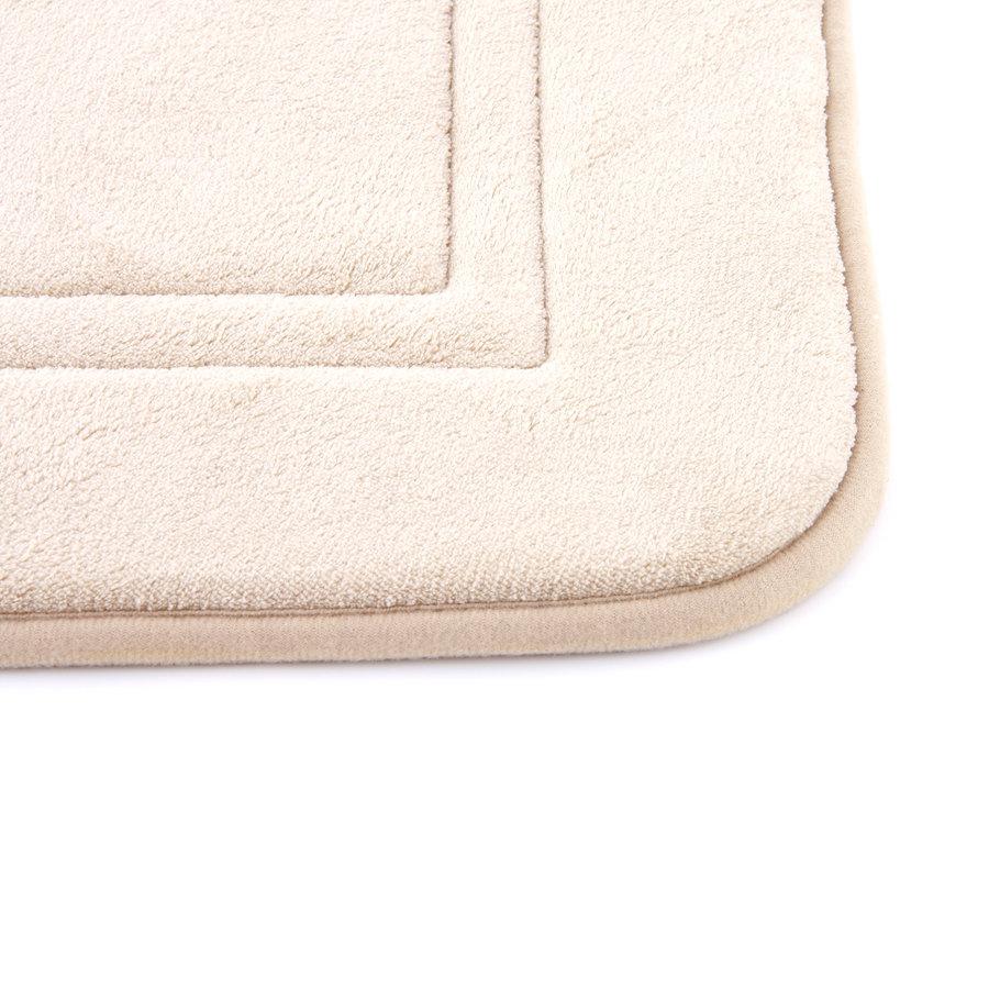 Béžová koupelnová pěnová předložka 01 - délka 80 cm a šířka 50 cm