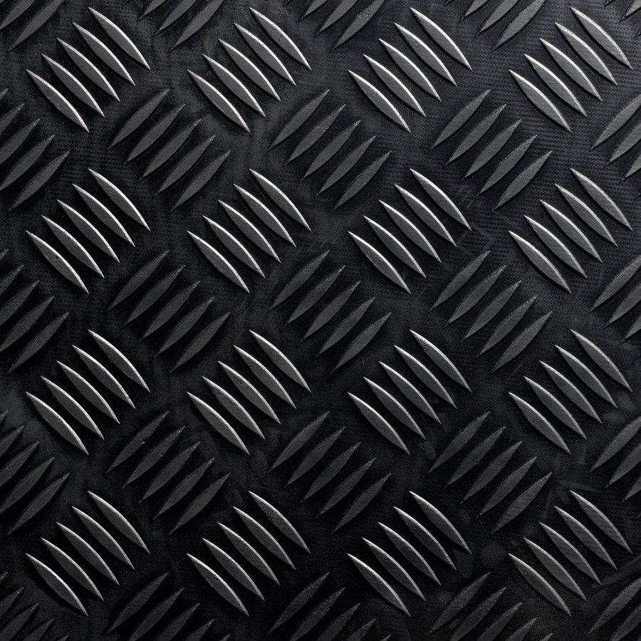 Černá gumová průmyslová protiskluzová rohož - délka 10 m, šířka 150 cm a výška 0,3 cm
