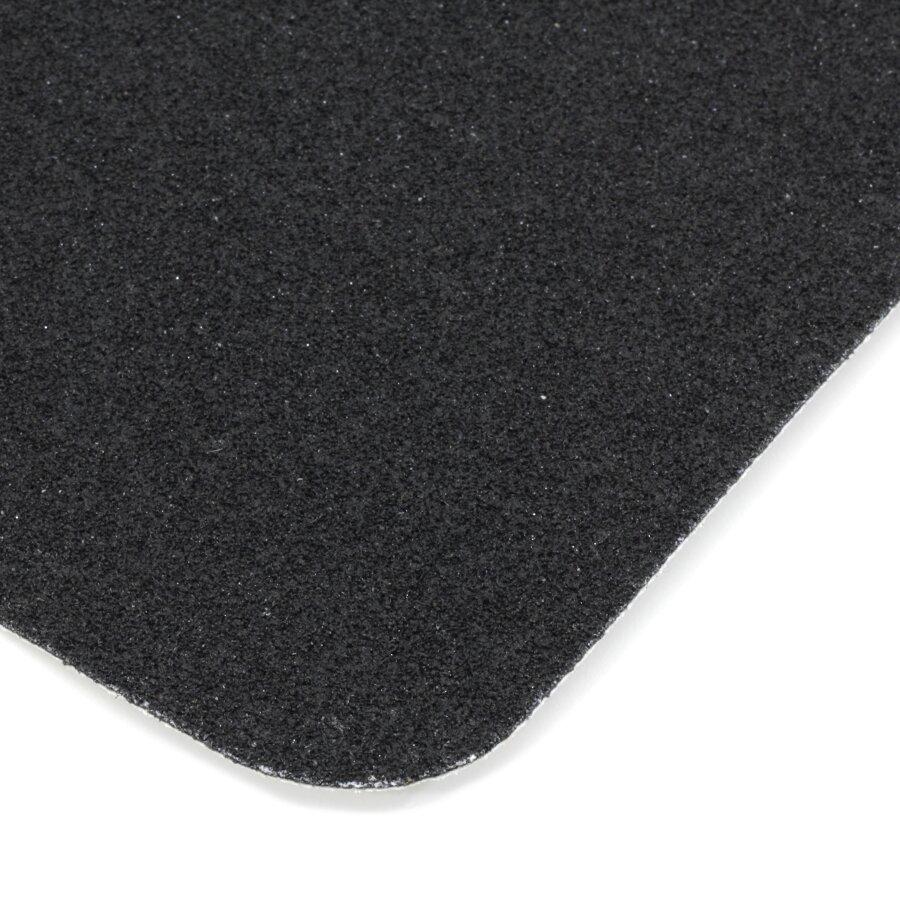 Černá korundová protiskluzová páska (dlaždice) FLOMA Standard - délka 14 cm, šířka 14 cm a tloušťka 0,7 mm