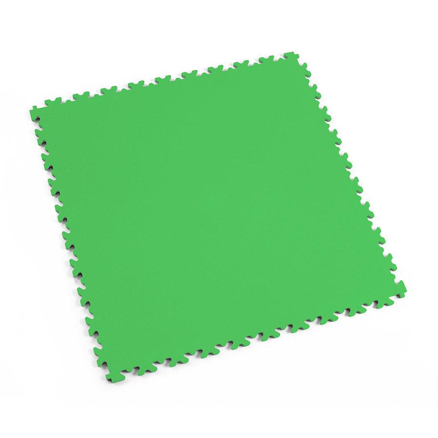 Zelená vinylová plastová dlaždice Light 2060 (kůže), Fortelock - délka 51 cm, šířka 51 cm a výška 0,7 cm