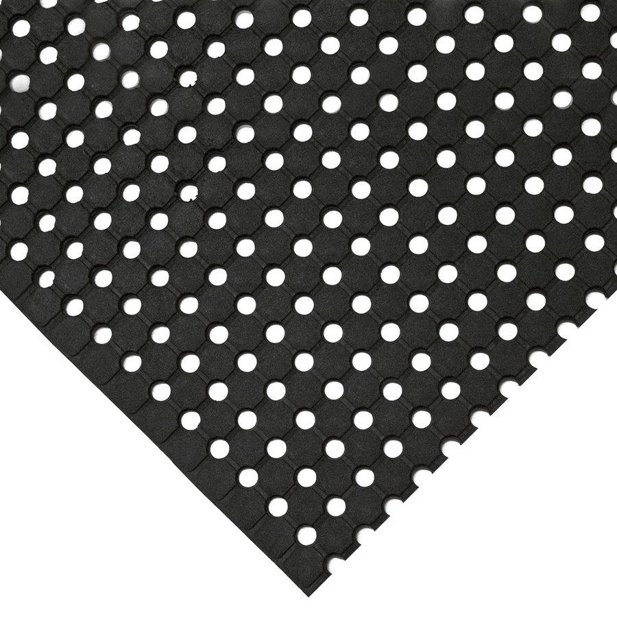 Černá gumová protiskluzová průmyslová rohož - délka 5 m, šířka 100 cm a výška 1 cm