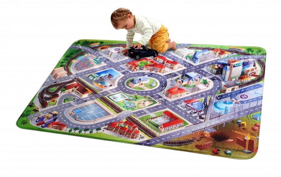 Různobarevný hrací kusový dětský koberec Ultra Soft - délka 100 cm a šířka 70 cm