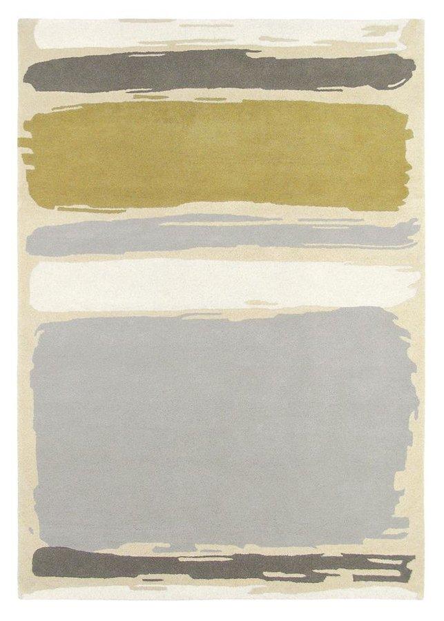 Béžový kusový moderní koberec Abstract
