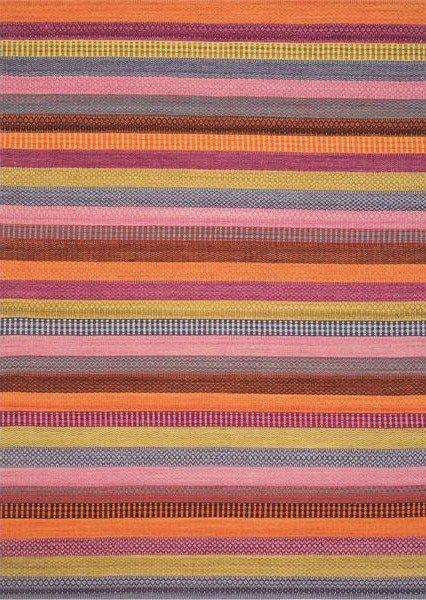 Oranžový kusový moderní koberec Enjoy