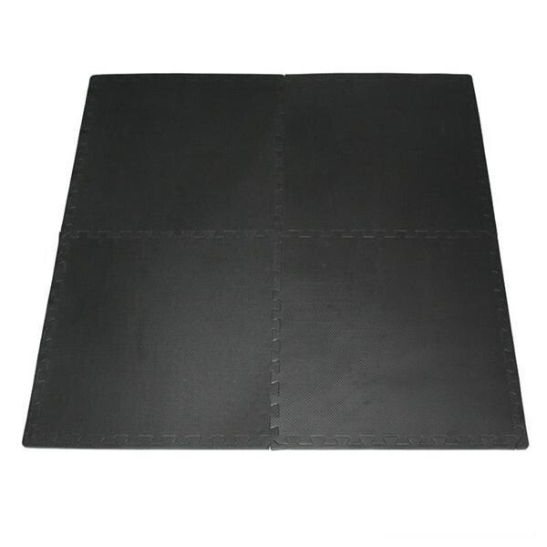Černá pěnová modulová puzzle podložka (4x puzzle) ONE FITNESS - délka 122 cm, šířka 122 cm a výška 1 cm