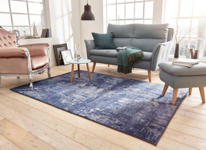 Modrý kusový moderní koberec Golden Gate