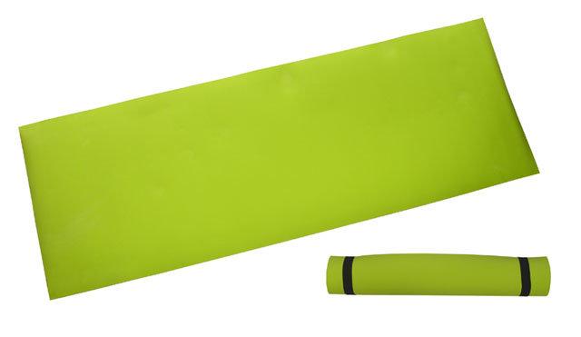 Zelená gymnastická podložka - délka 173 cm, šířka 61 cm a výška 0,4 cm