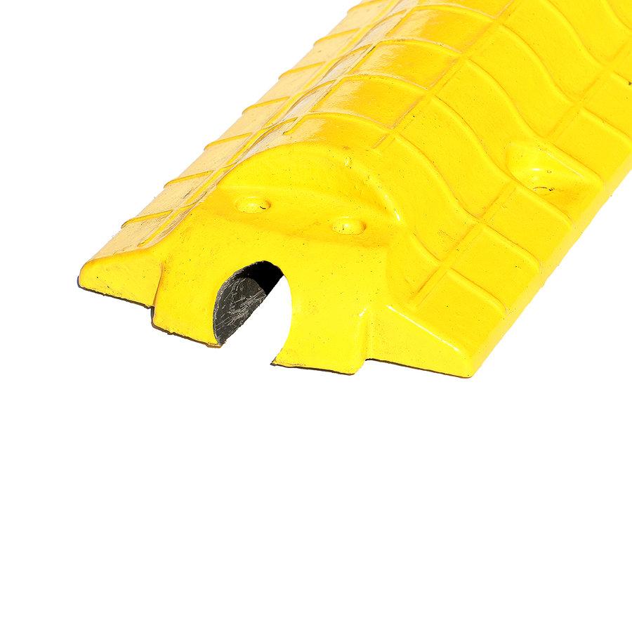 Žlutý plastový kabelový most - délka 80 cm, šířka 15 cm a výška 5,5 cm