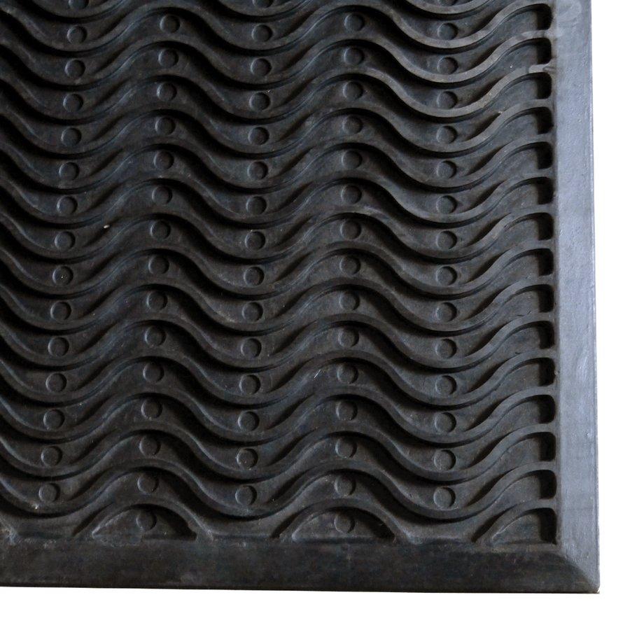 Gumová vstupní čistící rohož Waves - délka 150 cm, šířka 90 cm a výška 1,2 cm