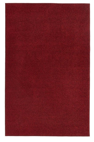 Červený kusový koberec Pure - délka 400 cm a šířka 80 cm