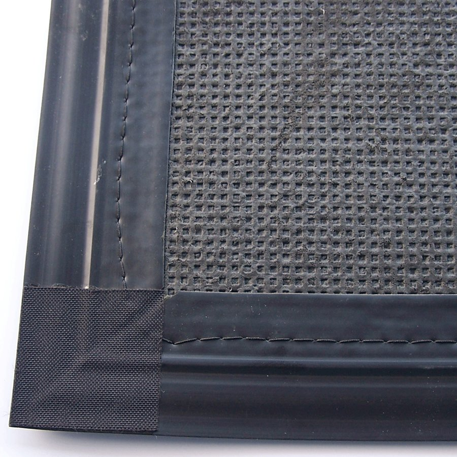 Antracitová textilní vnitřní čistící zátěžová vstupní rohož Perla - délka 100 cm, šířka 200 cm a výška 1,2 cm