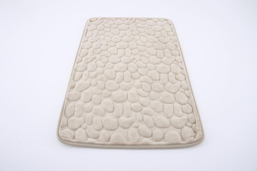 Béžová koupelnová pěnová předložka 09 - délka 80 cm a šířka 50 cm