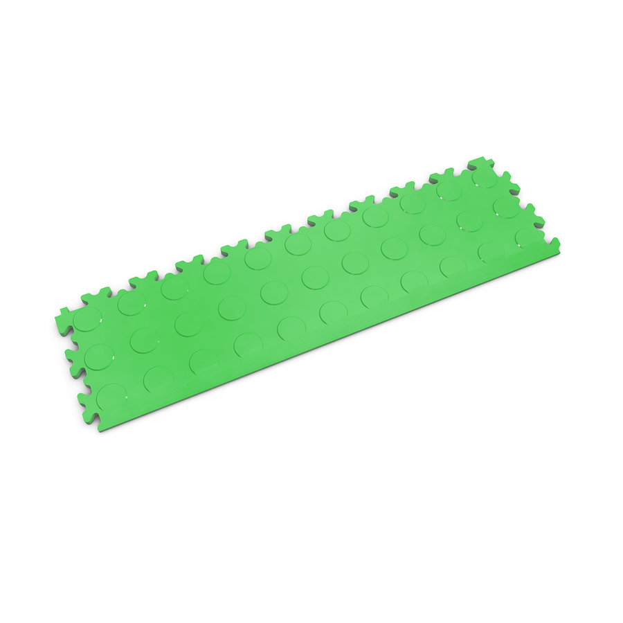 Zelený vinylový plastový nájezd Fortelock 2045 (penízky) - délka 51 cm, šířka 14 cm a výška 0,7 cm