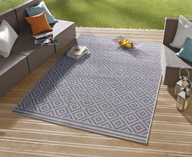 Modrý moderní kusový koberec Meadow - délka 230 cm a šířka 160 cm