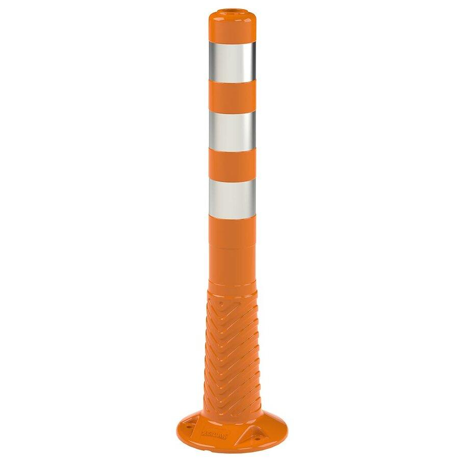 Oranžový reflexní samonarovnávací dopravní sloupek - průměr 8 cm a výška 75 cm