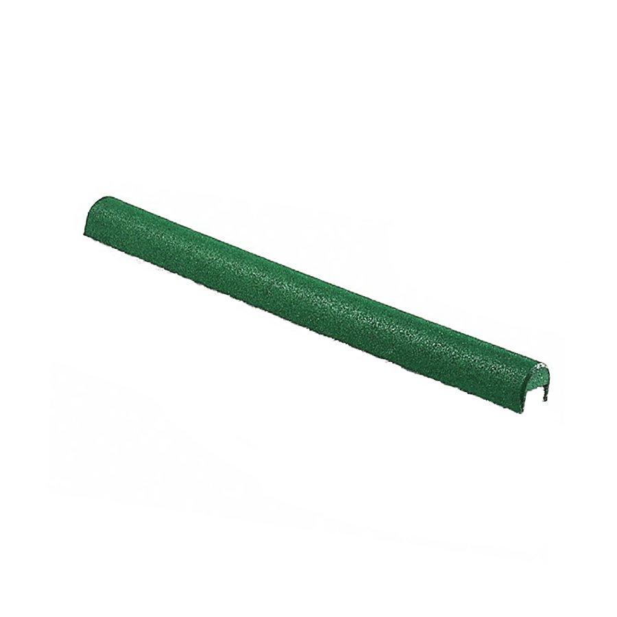 Zelený gumový kryt obrubníku - délka 100 cm, šířka 10 cm a výška 10 cm