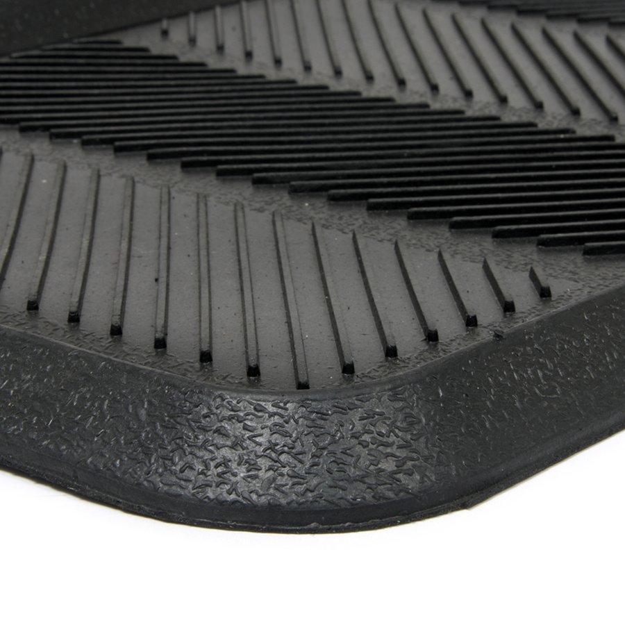Gumový odkapávač na boty Lines, FLOMAT - délka 40 cm, šířka 80 cm a výška 2,5 cm