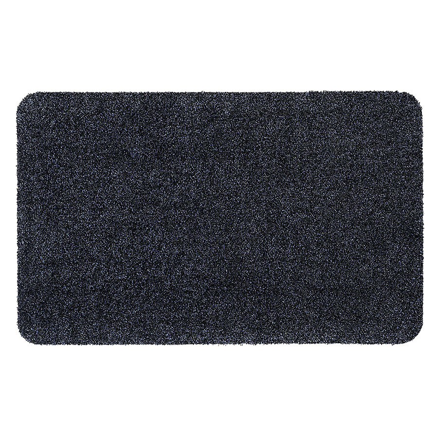 Tmavě modrá vnitřní vstupní čistící pratelná metrážová rohož Majestic - délka 1 cm