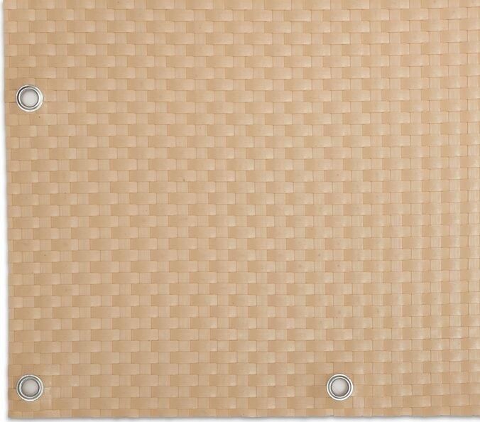 """Béžová plastová ratanová stínící rohož """"umělý ratan"""" s oky - délka 500 cm a výška 75 cm"""