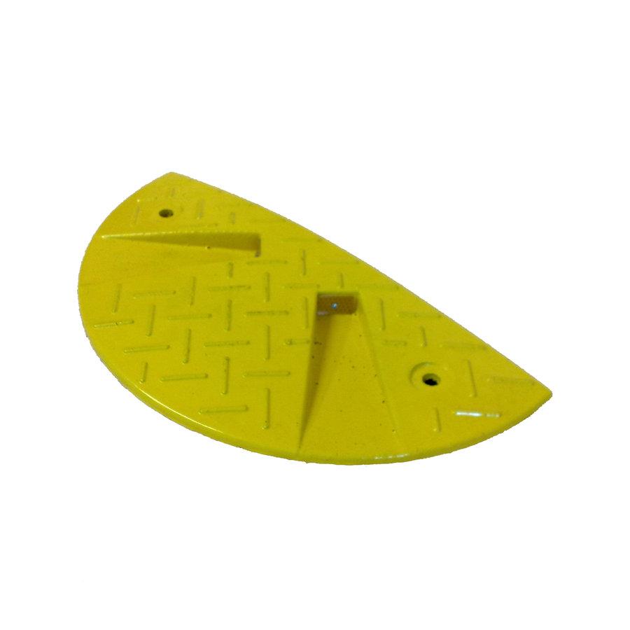 Žlutý plastový koncový zpomalovací práh - 30 km / hod
