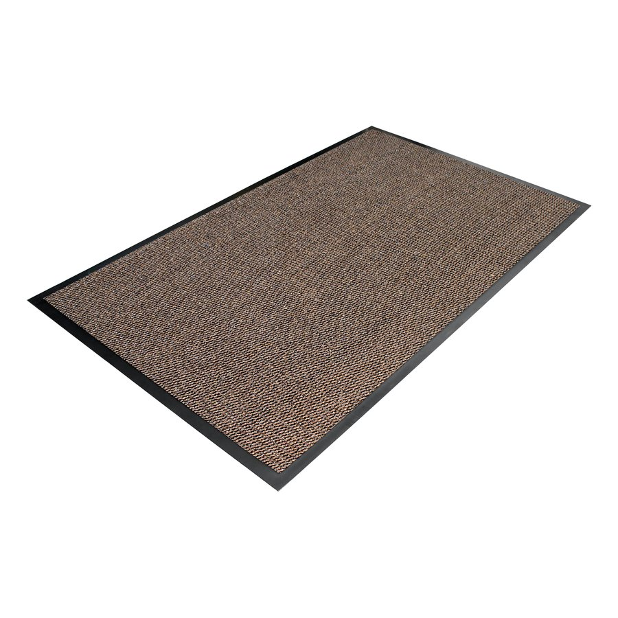 Hnědá textilní vstupní vnitřní čistící metrážová rohož - šířka 120 cm a výška 0,7 cm
