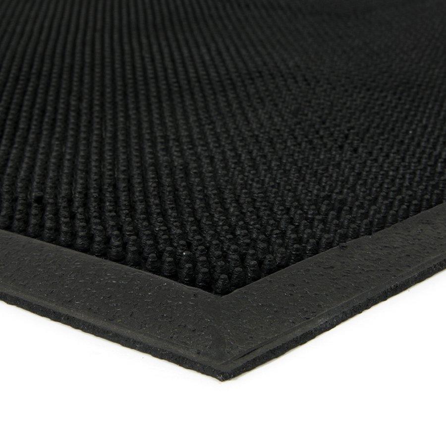 Gumová čistící venkovní vstupní rohož FLOMA Rubber Brush - délka 60 cm, šířka 90 cm a výška 1,2 cm