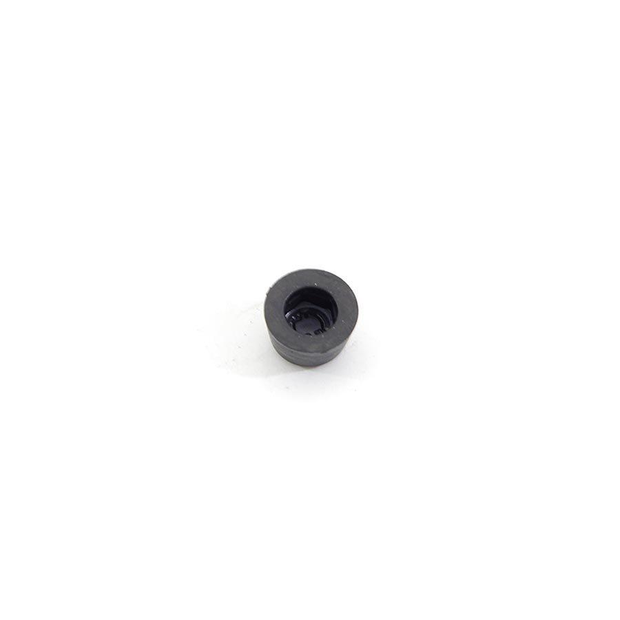 Černý pryžový doraz návlečný pro hlavu šroubu FLOMA - průměr 1,5 cm a výška 0,9 cm