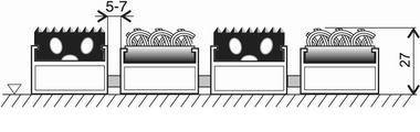Textilní gumová hliníková vnitřní vstupní rohož FLOMA Alu Standard - délka 100 cm, šířka 100 cm a výška 2,7 cm