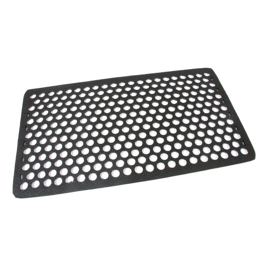 Gumová vstupní venkovní čistící rohož Hexagon, FLOMA - délka 40 cm, šířka 70 cm a výška 1,2 cm