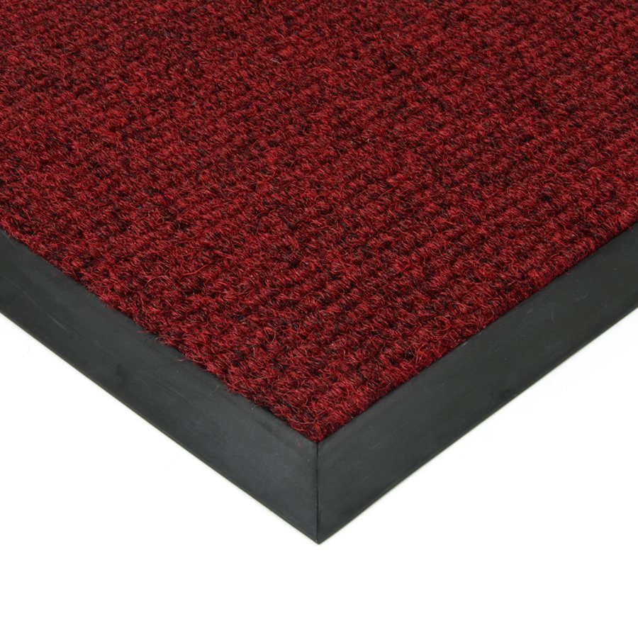 Červená textilní vstupní vnitřní čistící zátěžová rohož Catrine, FLOMA - délka 50 cm, šířka 80 cm a výška 1,35 cm