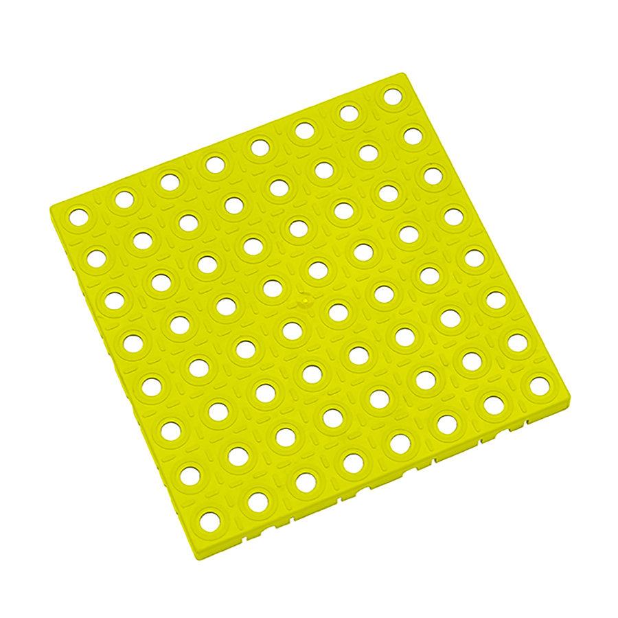 Žlutá plastová modulární dlaždice AvaTile - délka 25 cm, šířka 25 cm a výška 1,6 cm