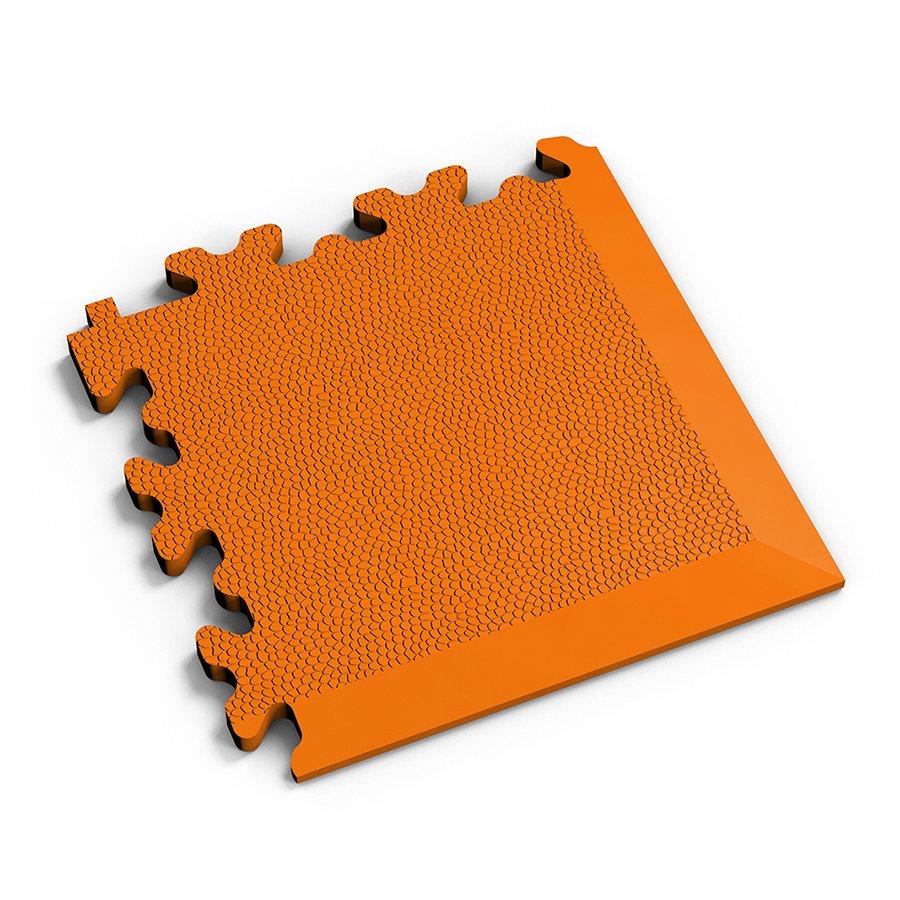 Oranžový vinylový plastový rohový nájezd 2026 (kůže), Fortelock - délka 14 cm, šířka 14 cm a výška 0,7 cm