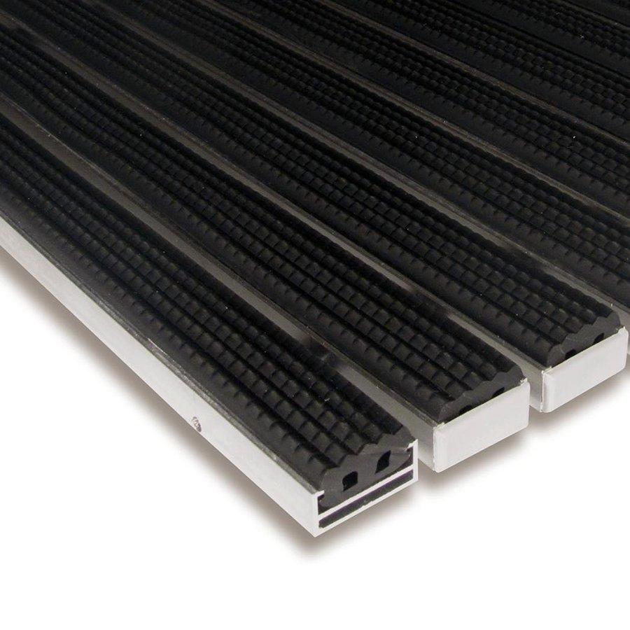 Gumová hliníková venkovní vstupní rohož Alu Standard, FLOMAT (Bfl-S1) - délka 1 cm, šířka 1 cm a výška 1,7 cm