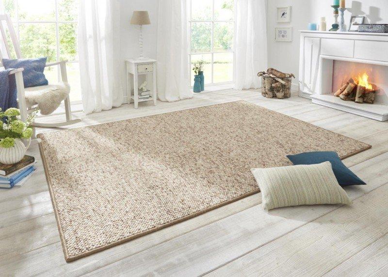Světle hnědý kusový moderní koberec Wolly - délka 300 cm a šířka 200 cm