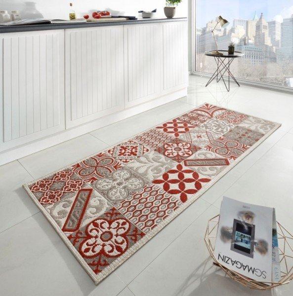 Červený moderní kusový koberec Soho - délka 200 cm a šířka 80 cm