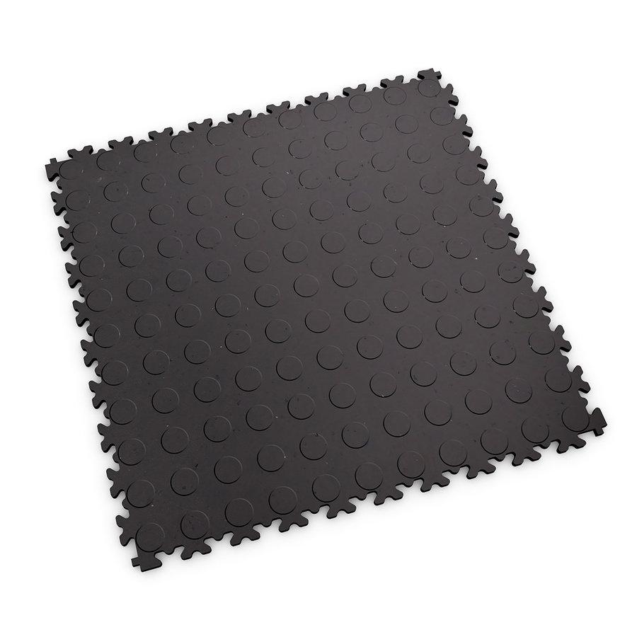 Šedá vinylová plastová zátěžová dlaždice Fortelock Eco 2040 (penízky) - délka 51 cm, šířka 51 cm a výška 0,7 cm