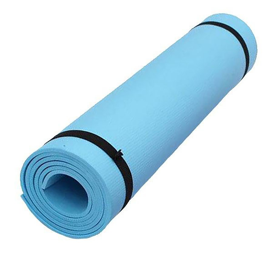 Modrá pěnová karimatka na cvičení - délka 173 cm, šířka 61 cm a výška 0,6 cm