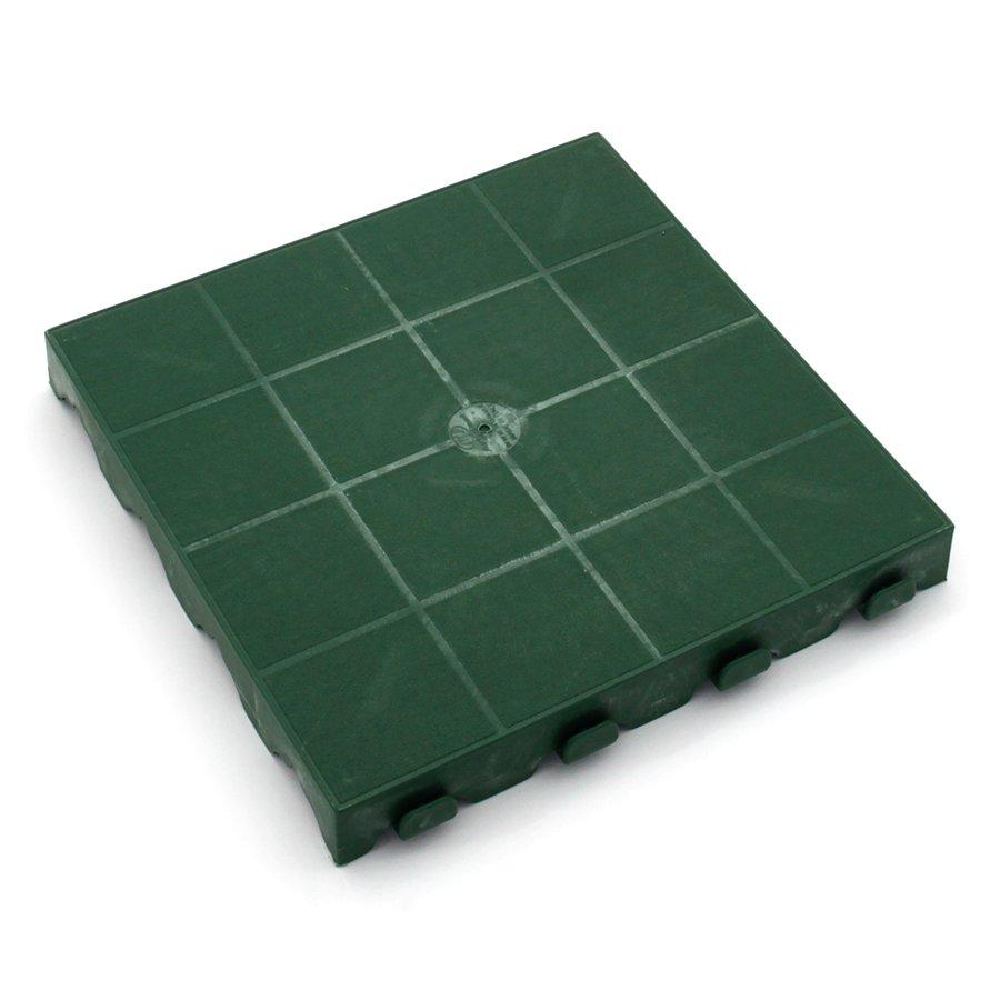 Zelená plastová terasová dlaždice Linea Combi - délka 40 cm, šířka 40 cm a výška 4,8 cm