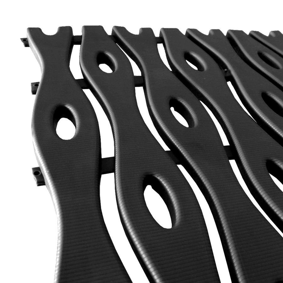 Černá plastová bazénová rohož - délka 12 m, šířka 60 cm a výška 0,8 cm