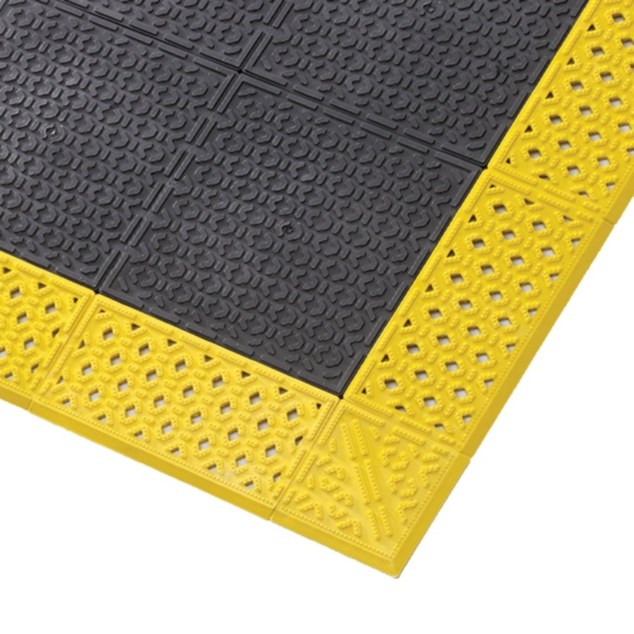Černá plastová rohož Cushion Lok HD Solid - výška 2,2 cm