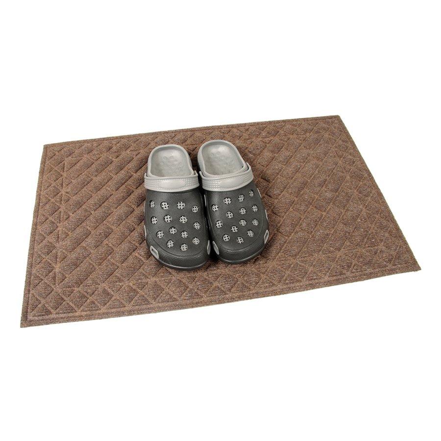Hnědá textilní vstupní venkovní čistící rohož Bricks - Squares, FLOMA - délka 45 cm, šířka 75 cm a výška 1 cm